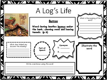 A Log's Life Vocabulary Challenge