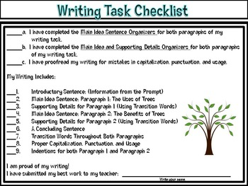 A Log's Life Writing Task: The Uses and Benefits of Trees