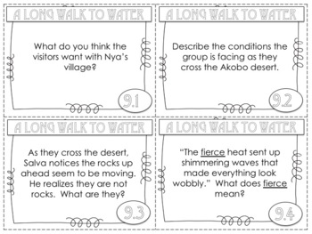 A Long Walk to Water 144 Discussion Task Cards