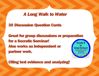 Free for 48 Hours! A Long Walk to Water 30 Discussion Question Cards