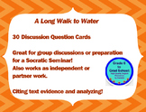 A Long Walk to Water 30 Discussion Question Cards