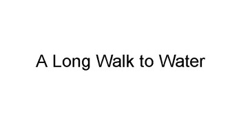 A Long Walk to Water Adapted Book - Chapter 1