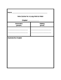 A Long Walk to Water Adapted Notecatcher (Notes Organizers)