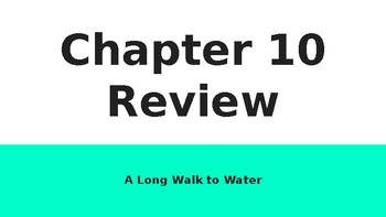 A Long Walk to Water: Chapter 10 PPT/Questions