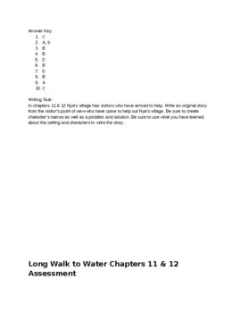 A Long Walk to Water Chapter 12 & 13