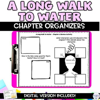 A Long Walk to Water Chapter Organizers to Support Your Struggling Readers