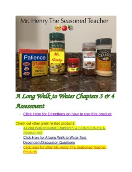 A Long Walk to Water Chapters 3 & 4