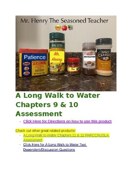 A Long Walk to Water Chapters 9 & 10