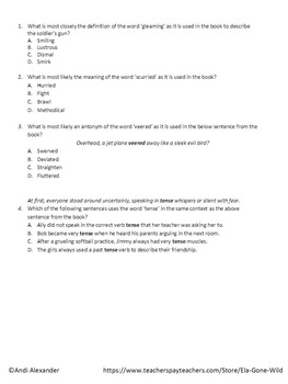 A Long Walk to Water Chapter 2 Quiz & Answer Key by ELA ...