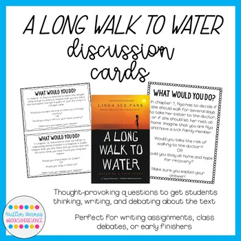 A Long Walk to Water Discussion Question Cards