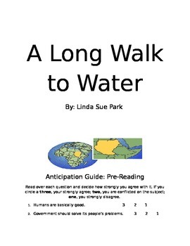 A Long Walk to Water Discussion Guide for Novel