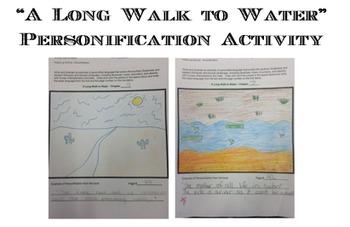 """A Long Walk to Water"" ELA7 Module 1; Unit 1; Personification"