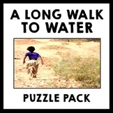 A Long Walk to Water - Puzzle Pack - Early Finisher & Vocabulary