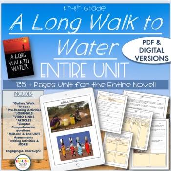A Long Walk to Water Unit-Google Classroom Ready, Digital