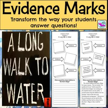 A Long Walk to Water:  Evidence Marks