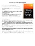 A Long Walk to Water Figurative Language Scavenger Hunt