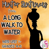 A Long Walk to Water Mentor Sentences & Interactive Activi