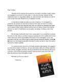 A Long Walk to Water Parent Letter