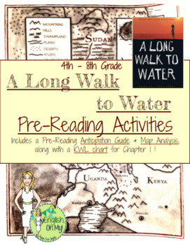 A Long Walk to Water-Pre-Reading Activities by English Oh ...