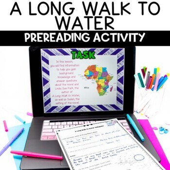 A Long Walk to Water Prereading Internet Scavenger Hunt Activity