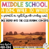 A Long Walk to Water   Novel Study Reading Unit   7th 8th   Distance Learning  