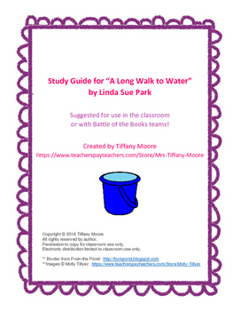 A Long Walk to Water Study Guide (eBOB)