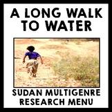A Long Walk to Water - Sudan Multigenre Research Menu