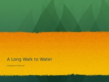 A Long Walk to Water Vocabulary