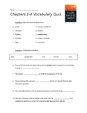 A Long Walk to Water Vocabulary Quiz Ch 1-4