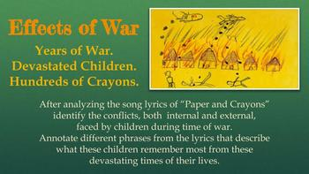 A Long Walk to Water and Crayons and Paper Song Analysis and Connections