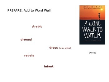 A Long Walk to Water by Linda Sue Park: Structured Literature Circle Slides