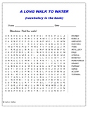 A Long Walk to Water vocabulary word search