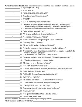 A Long Water to Water by Linda Sue Park Figurative Language Worksheet and KEY