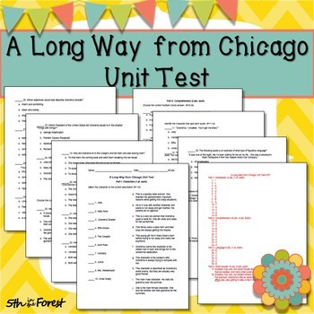 A Long Way From Chicago Novel Study BUNDLE (Chpt. 1 FREE SAMPLE!)
