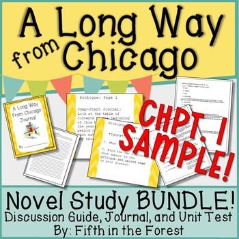 A Long Way From Chicago Novel Study BUNDLE Chpt 1 FREEBIE