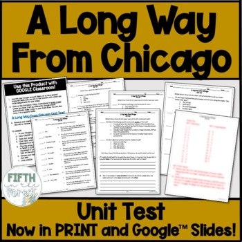 A Long Way From Chicago Novel Study BUNDLE (guide, journal, PLUS test!)