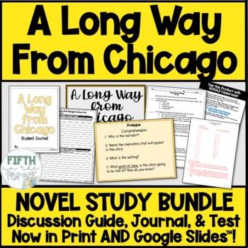 a long way from chicago novel study bundle discussion guide journal rh teacherspayteachers com Long Way From Chicago Questions Long Way From Chicago Grandma