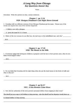 A Long Way From Chicago Reading For Comprehension Bundle