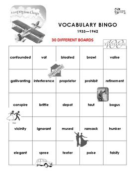 A Long Way From Chicago Vocabulary Bingo
