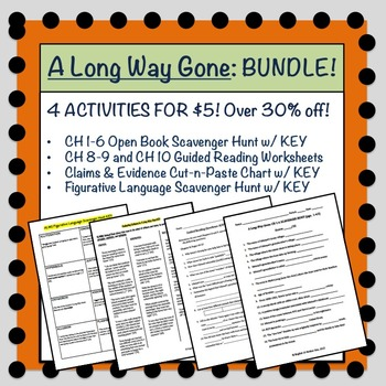 A Long Way Gone: 4 Reading Activities