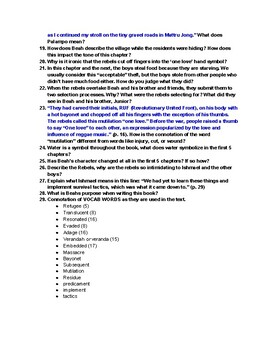 A Long Way Gone Chapter 1-5 Study Guide