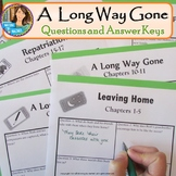 A Long Way Gone--Quizzes and Answer Keys
