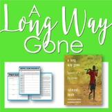 A Long Way Gone - Reading Strategies Focused Unit