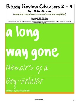A Long Way Gone Study Review Chapters 2 to 4