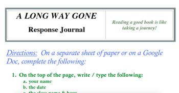 A Long Way Gone Summary Sheet