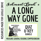 A Long Way Gone by Ishmael Beah - Quiz & Key Bundle