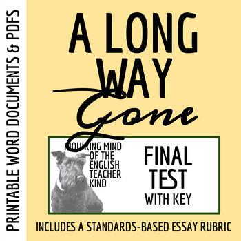 A Long Way Gone by Ishmael Beah - Test & Key