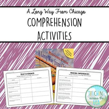 A Long Way from Chicago comprehension activities