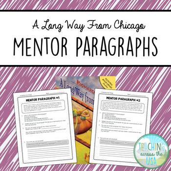 A Long Way from Chicago mentor paragraph writing