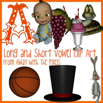 A - Long and Short Vowel Clip Art - Large High Quality Clipart for Teachers